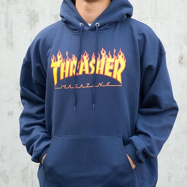 diseño atemporal de4a8 6df5b Sudadera THRASHER Mag. - Flame azul