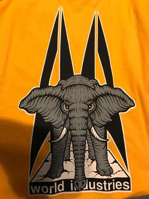 Camiseta WORLD INDUSTRIES - Mike Vallely - Amarilla